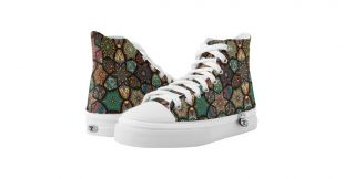 Vintage patchwork with floral mandala elements High Top sneakers