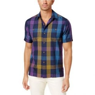 Tommy Bahama Mens Morockin Plaid Button Up Shirt
