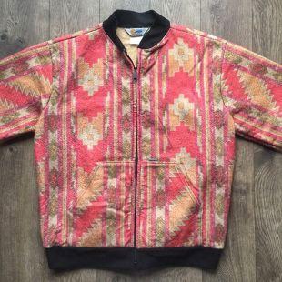 Vintage Carhartt Aztec Print Bomber Jacket   Size Large    eBay