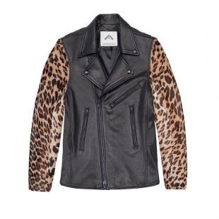 OVADIA & SONS Leather Leopard Calf Hair Sleeves Moto Jacket S BNWT $2495   eBay