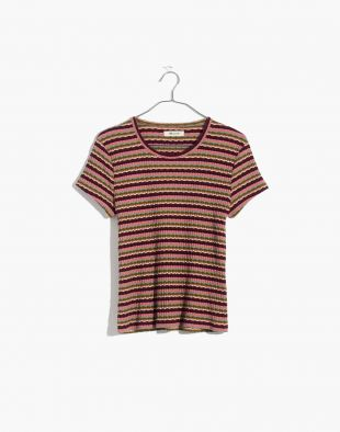 Madewell Ribbed Baby Tee in Stripe