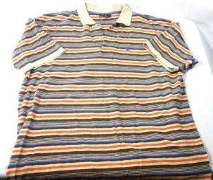 Mens Big & Tall US Polo Assn 3xl striped polo 1/4 button up orange blue yellow    eBay