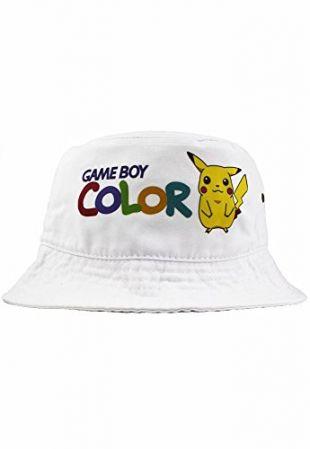 Bob Chapeau Game Boy Color Pikachu Lorenzo Coton, Blanc, Taille unique