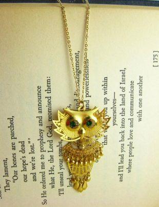 Bijoux de chouette hibou collier strass vert or, collier avec pendentif hibou vert et or, boucles pendantes Bijoux Pendentif collier en or, boucles collier