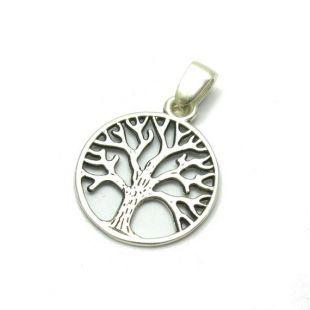Pendentif arbre de vie massif 925 breloque en argent Sterling PE001123