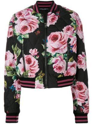 Dolce & Gabbana Veste Bomber à Motif De Roses   Farfetch