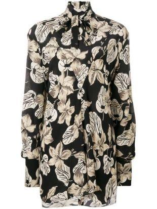 Rokh Oversized Floral Print Shirt