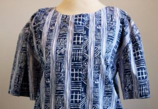 Chemise chemisier à manches courtes tribal navajo aztèque