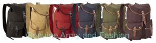 BRAND NEW VINTAGE ARMY MILITARY CANVAS BACKPACK RUCKSACK DAYPACK LEATHER STRAPS | eBay