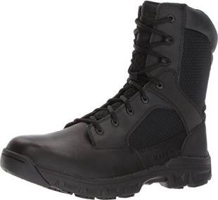 Bates Mens Code 6.2 8-inch Black Leather Boots 45 EU