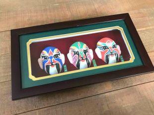 Masques d'opéra chinois Vintage, encadré opéra chinois masques, zone d'ombre, opéra Vintage masques, opéra chinois, opéra chinois masques, Decor Vintage