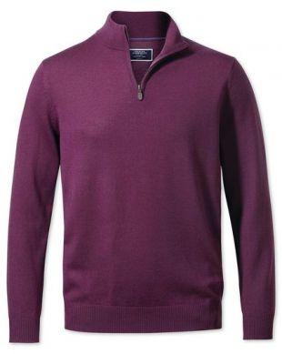 Pull violet en laine porté par Brett Mahoney dans The Punisher