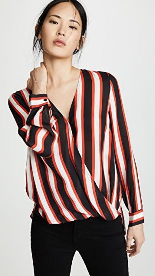 L'AGENCE Kyla Draped Blouse | SHOPBOP