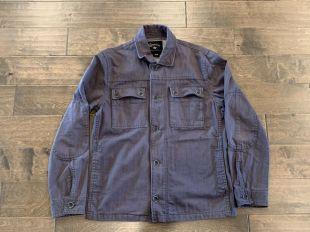 Converse Black Canvas Chuck Taylor Dark Grey Button Up Jacket Size M Military
