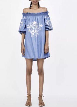 Zara Off The Shoulder Boho Dress
