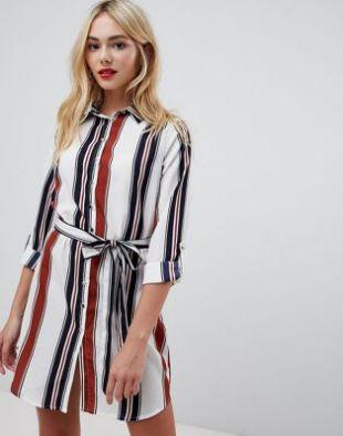 Parisian Robe chemise à rayures