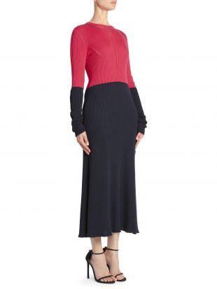 Cédric Charlier Colorblock Rib-Knit Dress