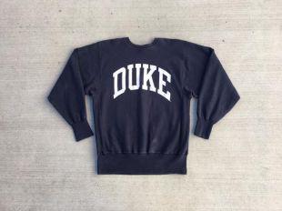 Champion Sweatshirt bleu marine Duke University 90s