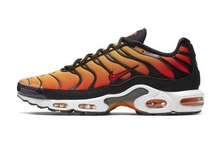 homme nike air max plus striped black orange