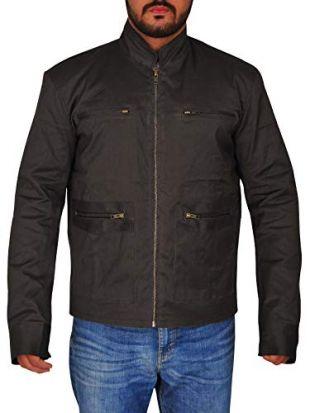 TrendHoop Designer Michael Dark Grey Mexican Style for Men with Front Pocket Jacket (Dark Grey, Medium)