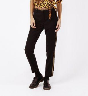 Pantalon à pince de smocking avec détails métallisés
