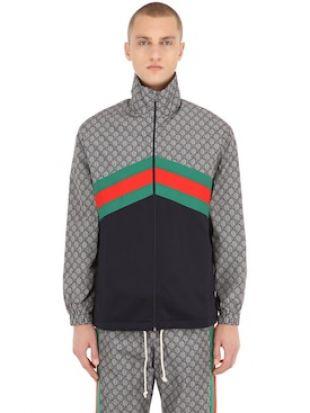 """Gucci veste en Jersey Technique """"GG Supreme"""""""