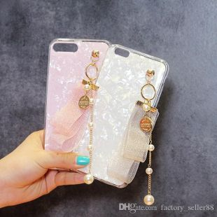 2019 Cellphone Case Charms Tulle Tassels Pearl Phone Key Chain Straps Pendant DIY Universal Mobile Phone Accessories Free DHL 804  From Factory_seller88, $0.89 | DHgate.Com