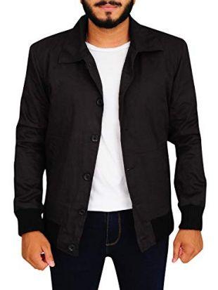 TrendHoop Mens Custom Made Criminal Grey Lightweight Bomber Varsity Jacket (Criminal Grey, Medium)