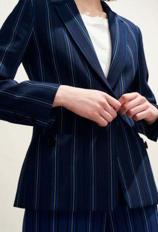 Veste tailleur rayée