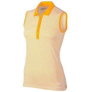 Nike Victory Stripe Sleeveless Golf Polo 2017 Women Laser Orange/White Small
