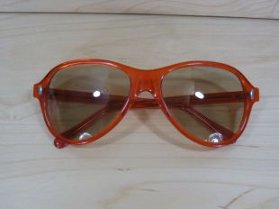 Vintage Sunglasses Suntimer Clear Orange S-637