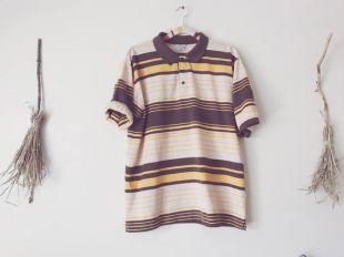 années 70 chemise Polo à rayures