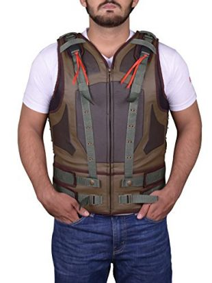 Trendhoop Fashion Military Green Bane Style Famous Men Leather Vest (Large)