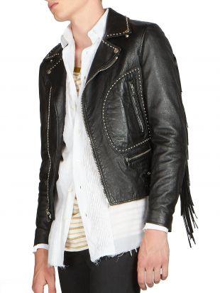 Fringe Leather Moto Jacket