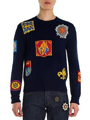 Jacquard Badge Sweater