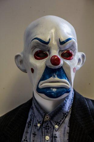 Bozo (Joker mask) 1:1 Dark Knight TDK Mask, Prop