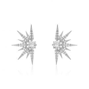 Melinda Maria Jewelry Barrie Earring Silver