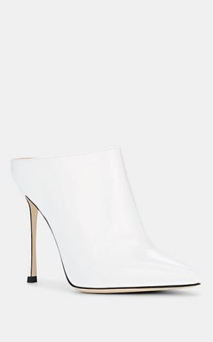 Sergio Rossi Pointed Toe Leather Mules