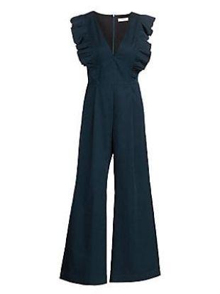 Sea Stevie Ruffled Sleeve Wide Leg Crop Jumpsuit