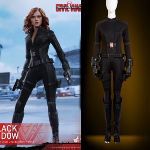Haute Qualité Captain America Guerre Civile Noir Veuve Cosplay Costume Natasha cosplay Captain America costume Noir Veuve