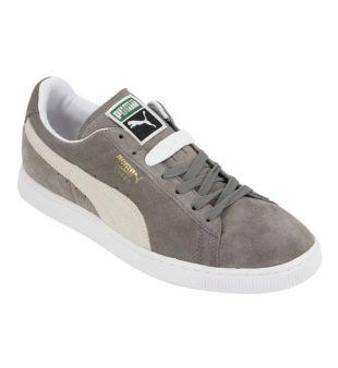 shoes, puma, suede, grey, white, beige, puma suède, grey