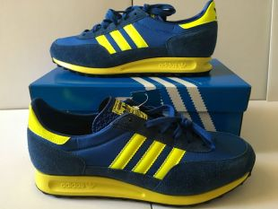 The Adidas shoes TRX blue and yellow in