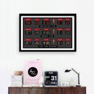 Retour vers le futur (horloge de Delorean) Wall Art Print