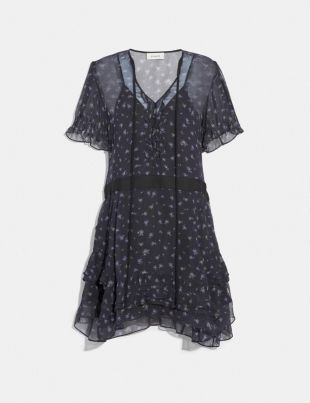Coach Scattered Rose Print Dress
