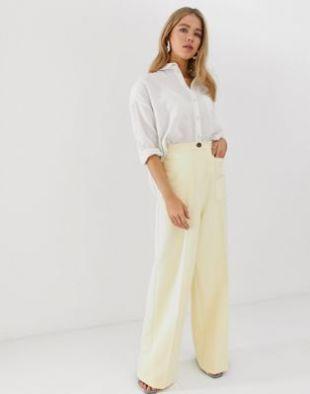 Asos Pantalon large à taille haute style années 70 avec poche