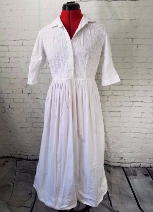 robe blanche vintage taille S