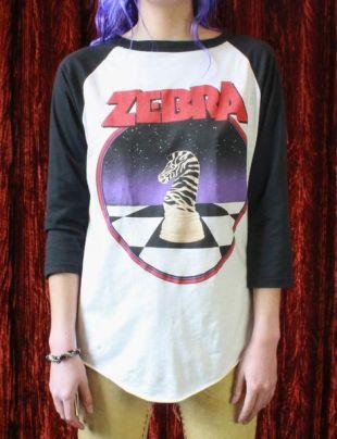 Vintage Zebra Concert T Shirt 1986 Tour Jersey Unisex