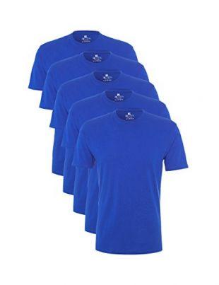 Lower East - LE105 - T-Shirt (lot de 5) - Homme - Bleu (Victorian Bleu) - Taille: L