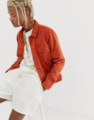 Asos Veste en jean Orange brûlé