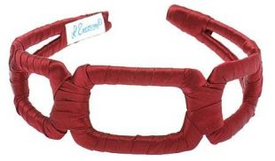 L. Erickson USA Italian Links Headband - Merlot